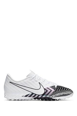 Nike White Mercurial Vapor 13 Academy Turf Football Boots