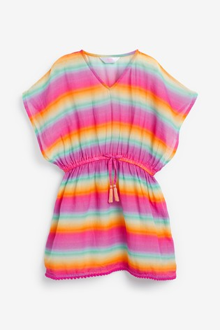 Angels by Accessorize Pink Ombre Rainbow Kaftan Top