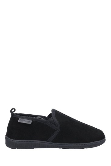 Hush Puppies Black Arnold Slippers