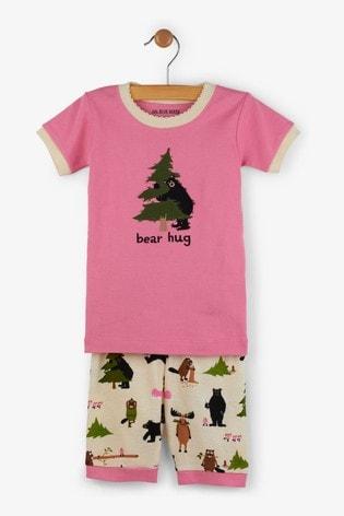 Hatley Pink Bear Hug Kids Short Pyjama Set