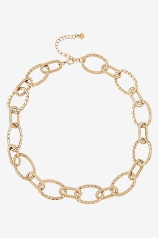 Mint Velvet Gold Tone Statement Chain Necklace