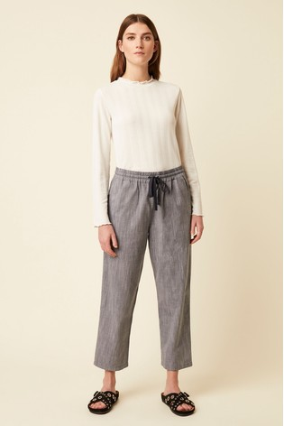 Great Plains Grey Rosa Chambray Trousers