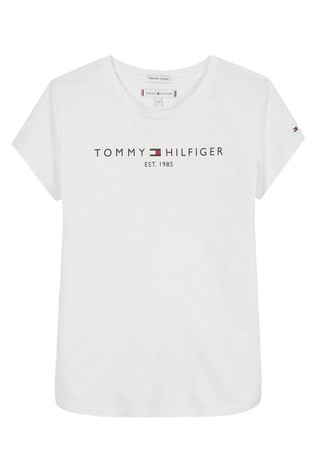 Tommy Hilfiger White Essential Logo T-Shirt