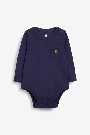 Gap Baby Long Sleeve Pocket Bear Bodysuit