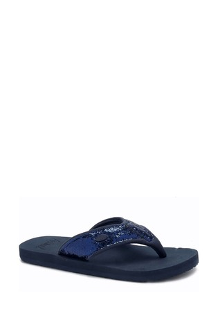 Animal Blue Swish Upper Flip Flops
