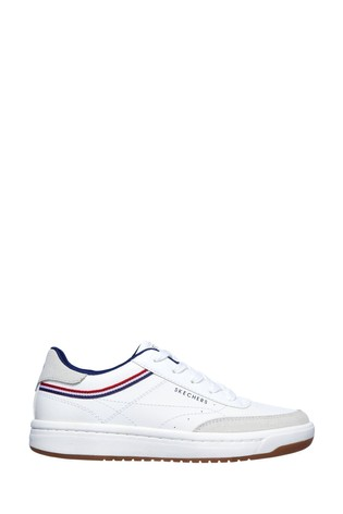 Skechers® White Downtown Klassic Kourts Trainers