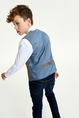 Tan Heritage Waistcoat, Shirt and Tie Set (12mths-16yrs)