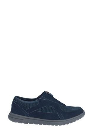 Fleet & Foster Blue Josie Zip Shoes
