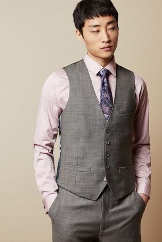 Ted Baker Hectorw Debonair Sharkskin Wool Suit Waistcoat
