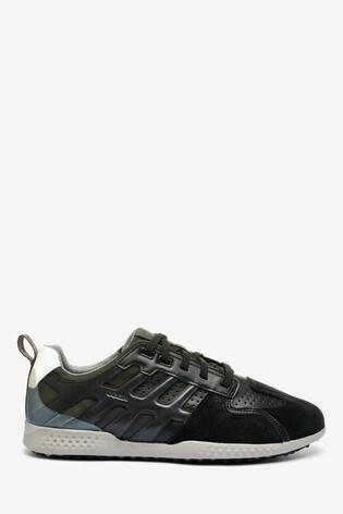 Geox Mens Snake.2 Black Sneakers