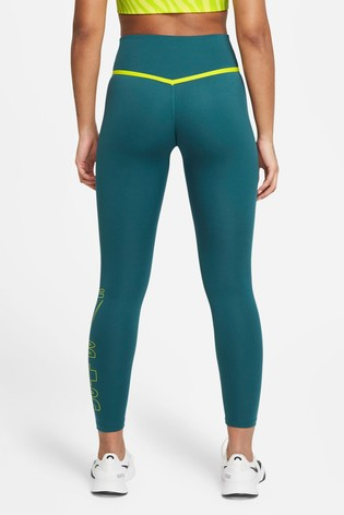 Nike Dark Teal One Icon Clash 7/8 Graphic Leggings