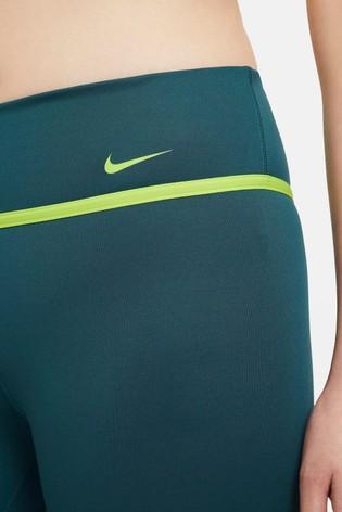 Nike Dark Teal One Icon Clash 7/8 Graphic Leggings
