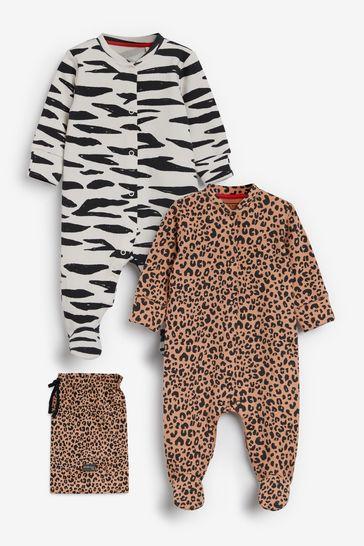 Myleene Klass Baby Organic Cotton Sleepsuits 2 Pack