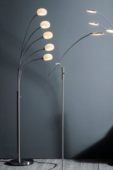 Gallery Direct Silver James 5 Bulb Floor Lamp