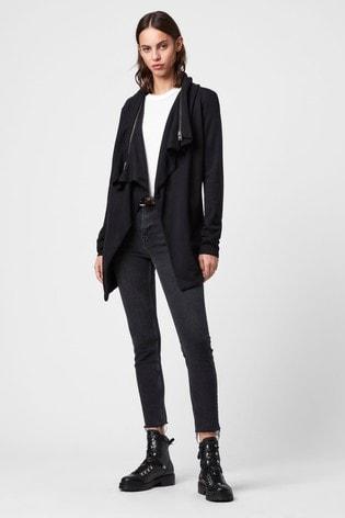 AllSaints Black Dahlia Wrap Cardigan