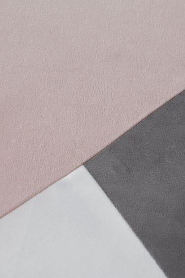 Catherine Lansfield Melina Colourblock Geo Duvet Cover and Pillowcase Set