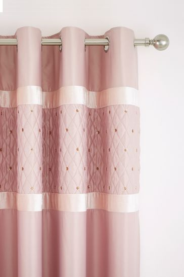 Sequin Cluster Lined Eyelet Curtains by Catherine Lansfield