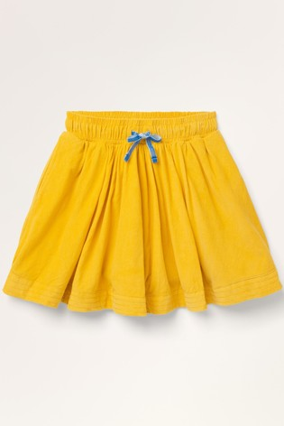 Mini Boden Yellow Woven Twirly Skirt