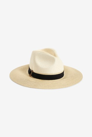 Accessorize Natural Mono Chic Braid Fedora Hat