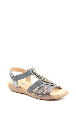 Heavenly Feet Agneta Ladies Pewter Sandals