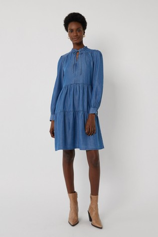 Warehouse Tiered Swing Dress