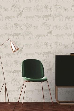 Boutique Safari Cream Wallpaper by Art For The Home