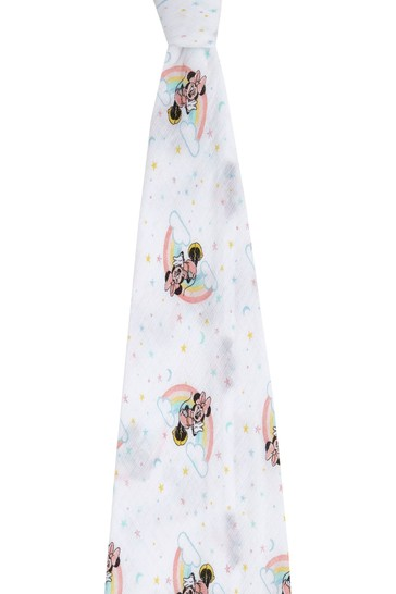 aden + anais Essentials Disney Minnie Rainbows Muslin Swaddle Blanket (112 x 112cm)