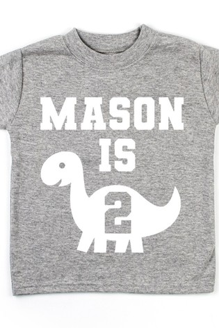 Personalised Dino Birthday T-Shirt by Dollymix