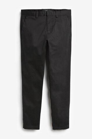 Black Slim Fit Signature Smart Chinos