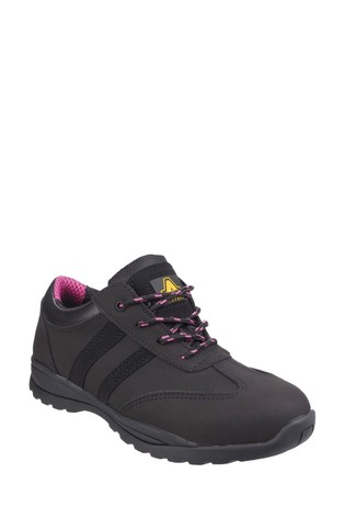 Amblers Safety Black FS706 Sophie Lace-Up Safety Trainers