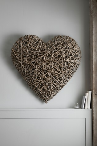 Large Wicker Heart Wall Hanging