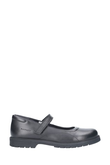 Hush Puppies Black Tally Senior School Shoes