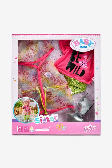BABY born Deluxe Trendy Rainbow Outfit Set 43cm 828328