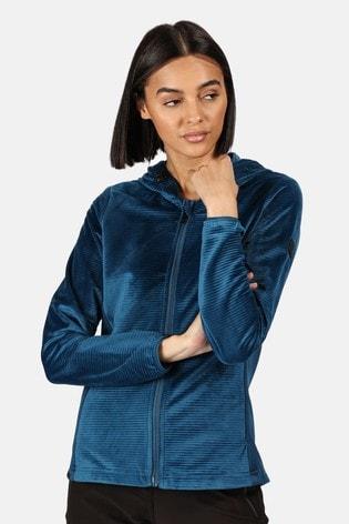 Regatta Blue Siddington Full Zip Hooded Fleece Jacket