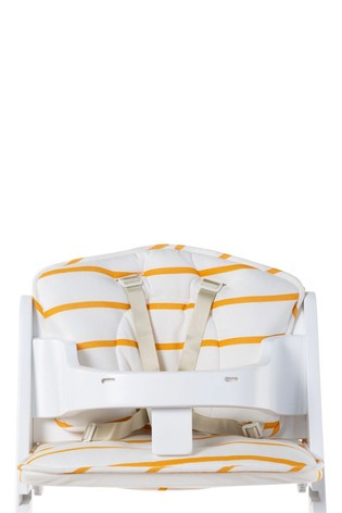 Baby Grow Chair Cushion Jersey Ochre Stripes