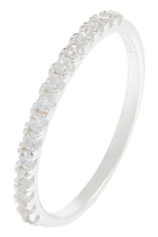 Accessorize White St Eternity Band Ring