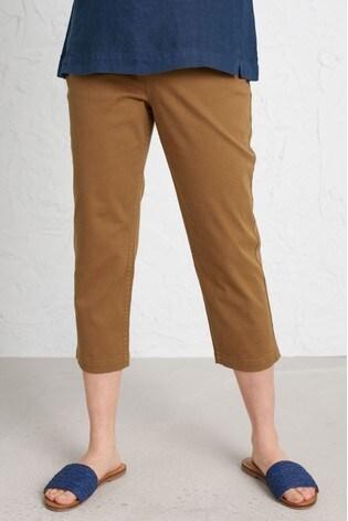 Seasalt Brown Albert Quay Crop Trousers