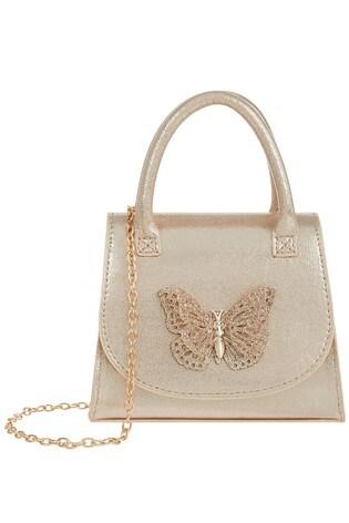 Monsoon Gold Savannah Glitter Butterfly Bag