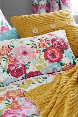Catherine Lansfield Pink Salisbury Bright Floral Cushion