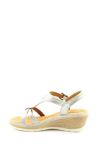 Heavenly Feet Coral Ladies White/Silver Sandals