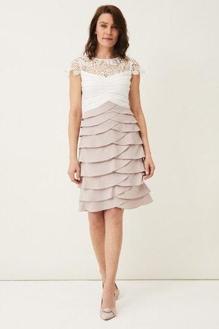 Phase Eight Cream Faith Contrast Dress