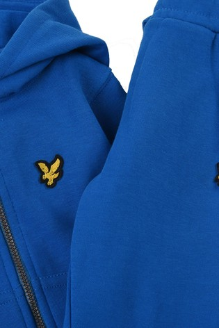 Lyle & Scott Blue Zip Hoodie And Joggers Set