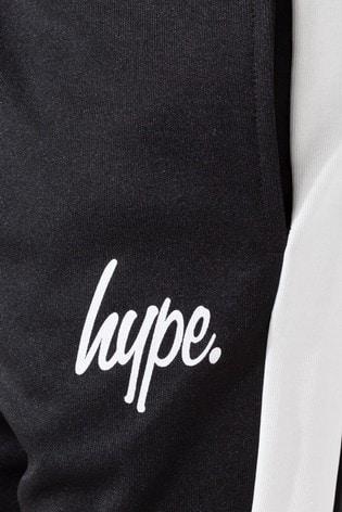 Hype. Black Side Stripe Kids Tracksuit
