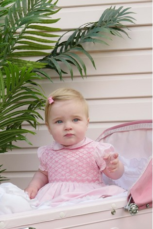 Rachel Riley Pink Bow Dress