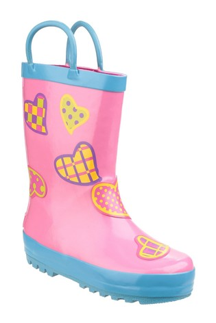 Cotswold Pink Puddle Waterproof Pull-On Boots
