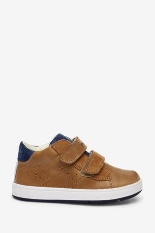 Geox Baby Boys Biglia Caramel/Navy Shoes