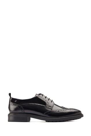 Base London® Black Lennox Wingtip Derby Shoes