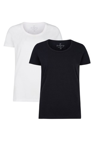 F&F Black/White T-Shirts Two Pack