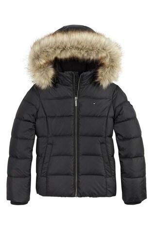 Tommy Hilfiger Black Essential Basic Down Jacket