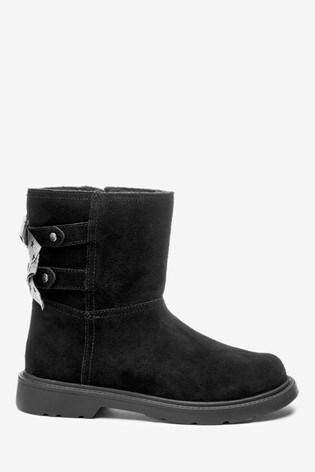UGG® Black Tillee Bows Kids Boots